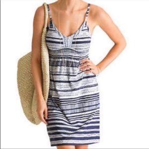 Athleta Bahia Sundress Shale & Dove Stripe Sz S